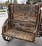 OLDS HIGH SIDED WOODEN WHEELED FARM WAGON