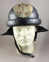 M-35 CRASH HELMET WITH AUSTRIAN CREST AND CHIN STRAP