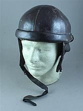 BELGIAN LEATHER CRASH HELMET