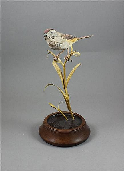 B.N. BURNS WOODEN SPARROW