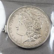 1878 MORGAN SILVER DOLLAR IN BEZEL