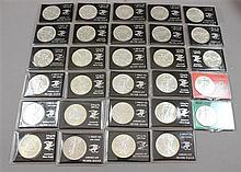 29 AMERICAN EAGLE SILVER DOLLARS VARIOUS DATES 1986-1993