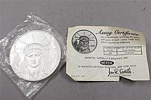10 TROY OZ .999 SILVER LIBERTY TRADE ASSAY ROUND