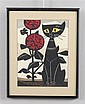 TOMOO INAGAKI (1902-1980, JAPAN) WOOD BLOCK PRINT