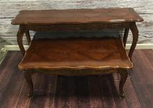 FRENCH PROVINCIAL STYLE SOFA TABLE AND MATCHING (42