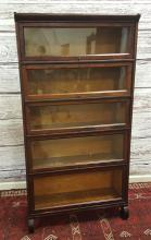 5 SECTION BARRISTER BOOKCASE, 34