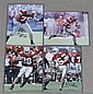 (4) SIGNED 8 X 10 PHOTOS OF O.S.U. FOOTBALL PLAYERS, DUSTIN FOX #37, KEN NUGENT #85, MAURICE HALL #28 AND SIMON FRAZIER #75