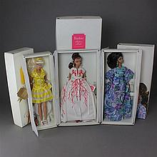THREE SILKSTONE BARBIES INCLUDING