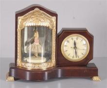 UNITED SELF STARTING CLOCK/MUSIC BOX WITH TWIRLING BALLERINA 13