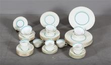 52 PC MINTON LADY RODNEY CHINA WITH GOLD BAND -