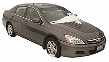 2007 HONDA ACCORD SEDAN, DARK GREY EXTERIOR WITH TAN LEATHER INTERIOR. SOME BURN MARKS ON SEATS AND STAINS TO CARPET. MINOR DAMAGE T...