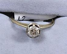 14K YELLOW GOLD APPROX .40CT DIAMOND