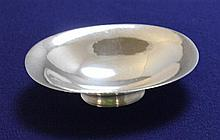 GEORG JENSEN DENMARK STERLING SILVER SMALL OVAL FOOTED DISH, 4