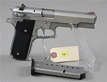 SMITH & WESSON MODEL 645 .45 CALIBER PISTOL SN:TAT0682, WITH 2 MAGAZINES AND SOFT CASE