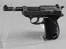 WALTHER MODEL P38 9MM CALIBER PISTOL SN: 4906E WITH HOLSTER AND 2 MAGAZINES