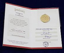 TANISHQ 24K GOLD COIN 8.9 GRAMS