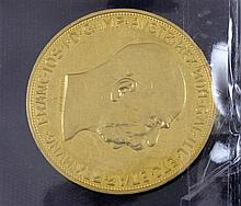 100 AUSTRIAN CORONA GOLD COIN .900/33.8753 GRAMS