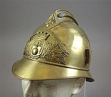 FRENCH MODEL 1895 FIRE HELMET OF SAPEURS POMPIERS DIFFANBACH LES