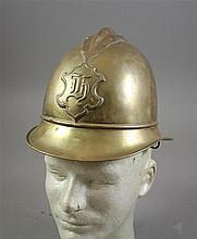 GERMAN MILITARY FIRE HELMET PRE WWI BRASS