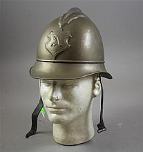 AUGSBURG BRASS FIREFIGHTERS HELMET 1910