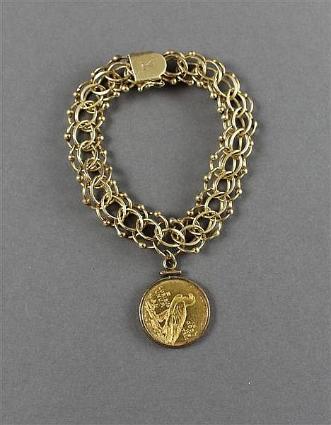 U.S. $5 GOLD COIN 1910 CHARM