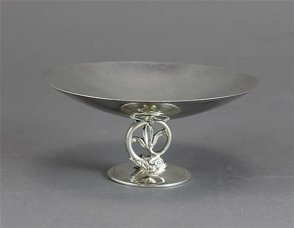 TIFFANY & CO STERLING DOLPHIN STEM COMPOTE