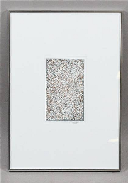 MARK TOBEY (AMERICAN 1890- ?) DRY POINT PENSEES GERMINALES