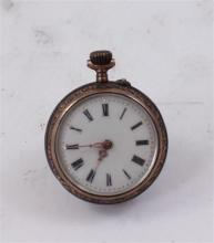 800 SILVER SMALL OPEN FACE POCKET WATCH