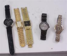 5 MEN'S WATCHES INCLUDING FOSSIL AND ELGIN