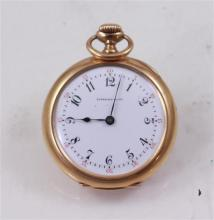 SIGNED TIFFANY & CO 18K YELLOW GOLD OPEN FACE MOVEMENT # 147236 POCKET WATCH, 34 MM DIAMETER, 35.8 GRAMS TOTAL