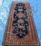 INDO PERSIAN TABRIZ PICTORIAL RUNNER, 2.9 X 8.3 ~