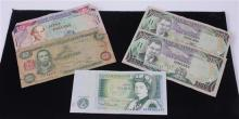 LOT 5 FOREIGN CURRENCY INCLUDING 4 JAMAICAN