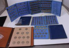 LOT COIN ALBUMS INCLUDING SUSAN B ANTHONY WITH 15 COINS, 2 JEFFERSON NICKELS WITH 84 COINS, AND 3 PENNY (1 INDIAN HEAD WITH 10 COINS...