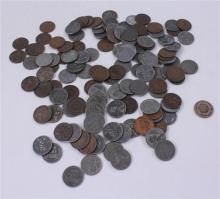LOT 133 PENNIES INCLUDING INDIAN HEAD