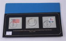 1971 COMMEMORATIVE POSTAL SERVICE COVER INCLUDING BLOUNT STERLING SILVER MEDAL