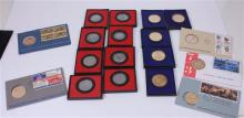14 VARIOUS BICENTENNIAL COMMEMORATIVE MEDALS AND 4 FIRST DAY COVERS