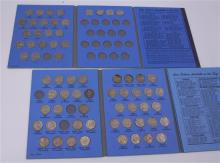 LOT 2 JEFFERSON NICKEL FOLDERS WITH 87 COINS