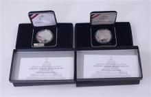 (2) 2000 LIBRARY OF CONGRESS COMMEMORATIVE PROOF SILVER DOLLARS