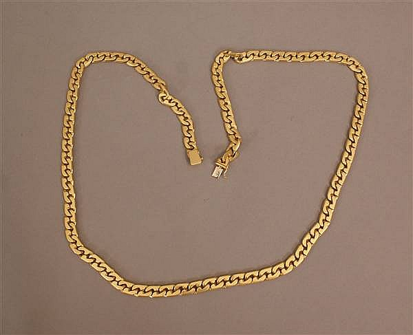 18 K YELLOW GOLD HEAVY LINK CHAIN NECKLACE