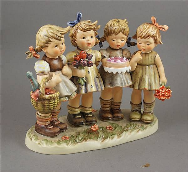 "HUMMEL FIGURINE ""WE WISH YOU THE BEST"" #600 6 MARK, 8 1/2""H WITH BOX"