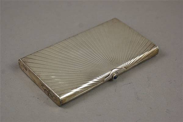 SIGNED CARTIER STERLING SILVER CIGARETTE CASE