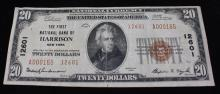 SERIES 1929 U.S. $20 NATIONAL CURRENCY NOTE, FIRST NATIONAL BANK OF HARRISON, NEW YORK