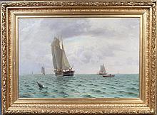 Holger Lübbers (1850-1931), Sejlere i Kattegat og marine med sejlskibe og robåd