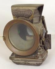 Vintage Lucas 'Petroleum Silver King' Carbide Bicycle Lamp