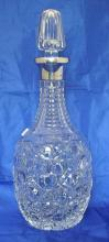 Silver Mounted Harrods Crystal Decanter by Richard Burbridge (Harrods Chairman). 20thc. Hallmarked London.
