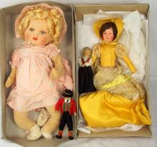 Vintage Dolls & Doll Nightdress Case. 20thc. (4 Items)
