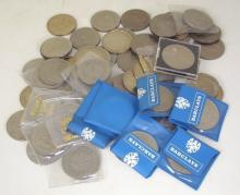 Collection of 60  QEII  Crowns. 20thc. (60 Items)