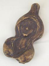 Austrian Vienna Bronze 'Erotic Lady' Paperweight with Franz Bergman Style Fleur de lys Mark. Length 4.5 inches.