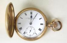 W Dunkling 315/317 Bourke Street,Melbourne, Swiss 14ct Gold Plated Dennison 25 year Case Hunter Pocket Watch.Working Order.