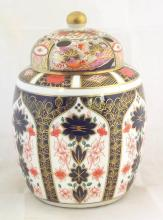 Royal Crown Derby Imari Lidded Pot Pourri Vase, Factory Marks to Base. Height 9  Inches.